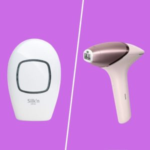 picture of silkn infinity and philips lumea laser hair removal devices
